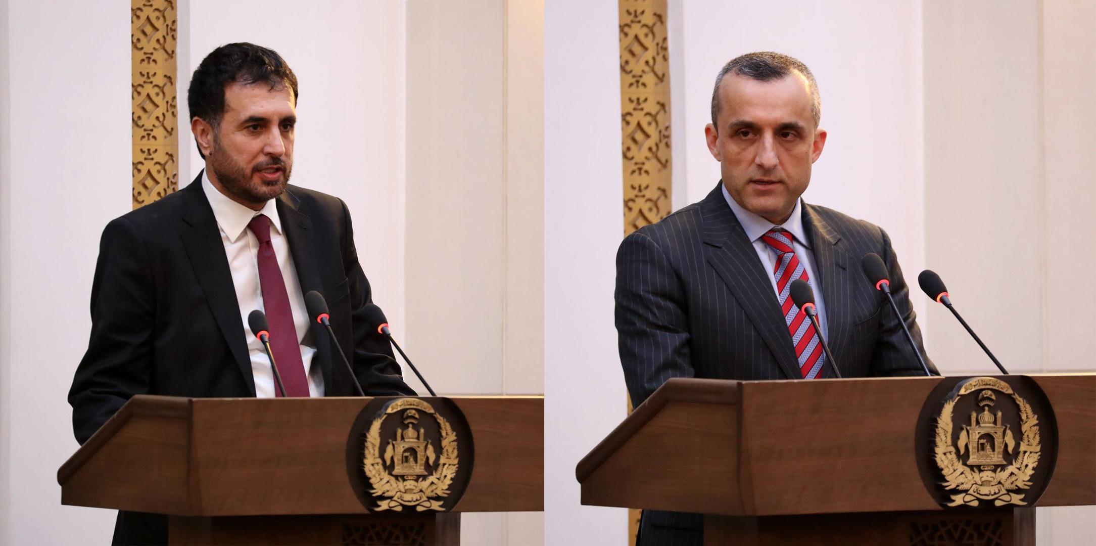 تصویر از سرپرستهای وزارتهای دفاع و داخله، رسما توسط «غنی» معرفی شد
