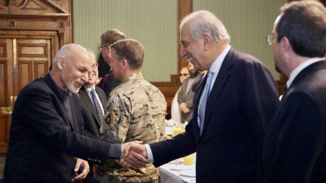 تصویر از غنی و خلیلزاد بر سر شیوه کار جدید در روند صلح به توافق رسیدند