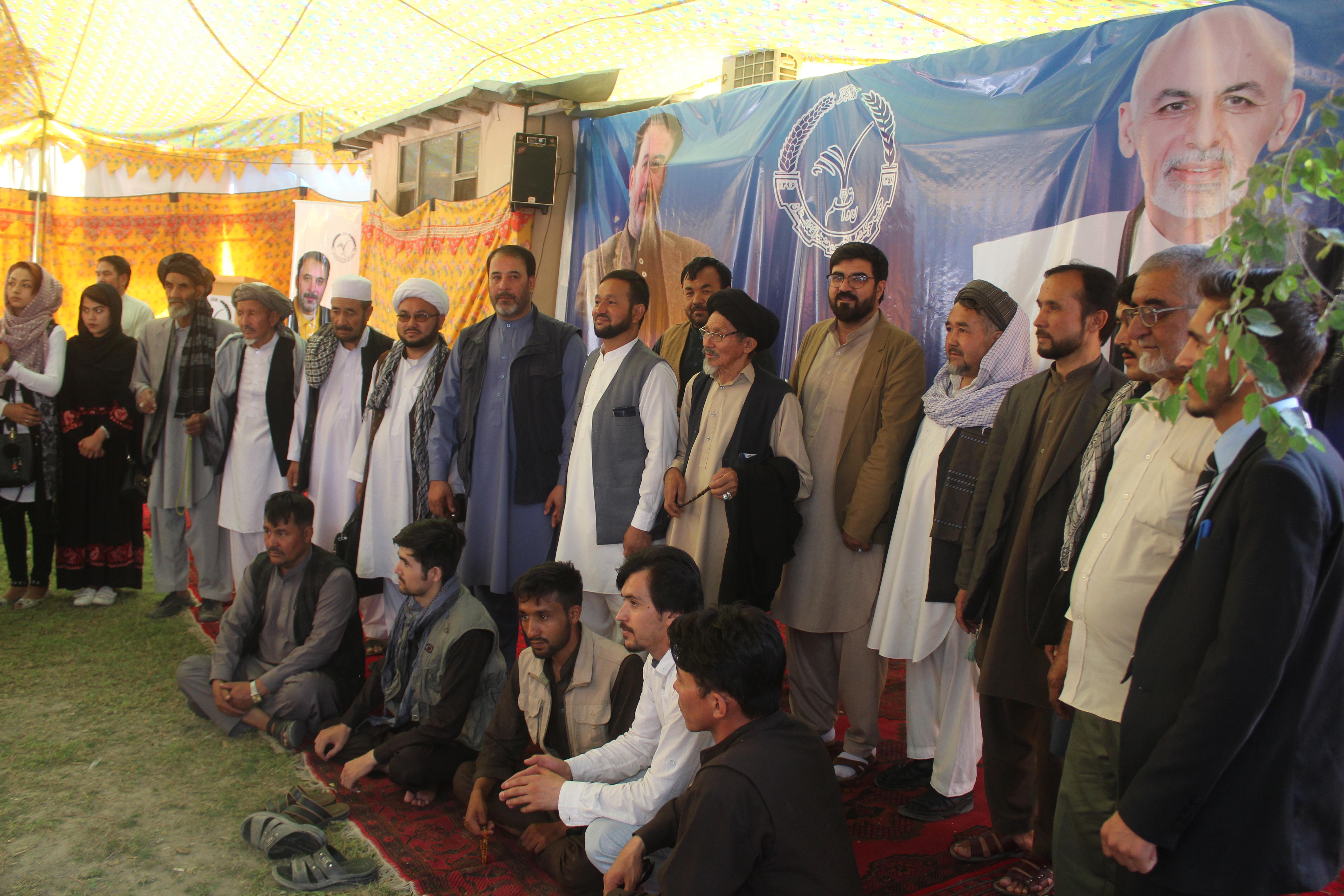 تصویر از حمایت جمع کثیر مردم دشت برچی از حزب حرکت اسلامی متحد افغانستان در انتخابات پیش رو