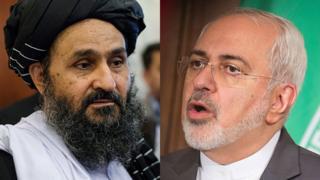 تصویر از طالبان: ملابرادر و جواد ظریف در تهران دیدار کردند