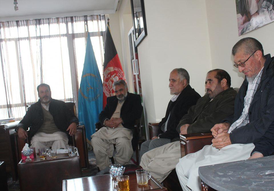 تصویر از جلسه هیئت رهبری حزب حرکت اسلامی متحد افغانستان