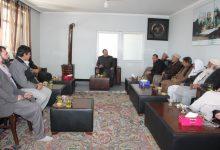"""تصویر از دیدار استاد ابوالحسین""""یاسر"""" با بزرگان و مسؤلین شورای مردمی ناحیه دهم شهر کابل ."""