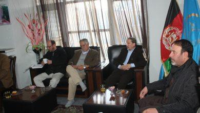 تصویر از جلسه هیئت رهبری حزب حرکت اسلامی متحد افغانستان.