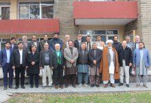 تصویر از جلسه فوق العاده هیئت رهبری حزب حرکت اسلامی متحد افغانستان.