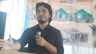 تصویر از گفتمان دانشجویی جوانان حزب حرکت اسلامی متحد افغانستان به مناسبت عید غدیر.